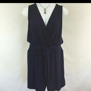 NWOT NY Collection Romper with Belt